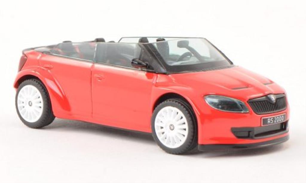 Skoda Fabia 1/43 Abrex 2000 Concept Car rouge mit blancheen Felgen miniature