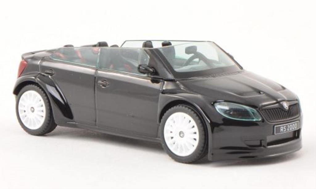 Skoda Fabia 1/43 Abrex 2000 Concept Car noire mit blancheen Felgen miniature