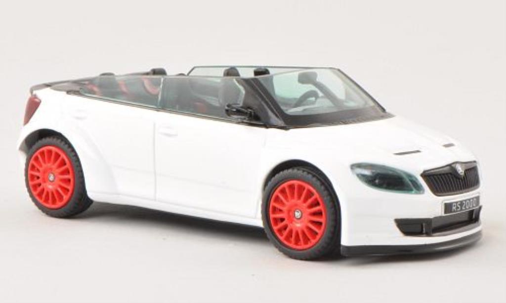 Skoda Fabia 1/43 Abrex 2000 Concept Car blanche mit rougeen Felgen miniature