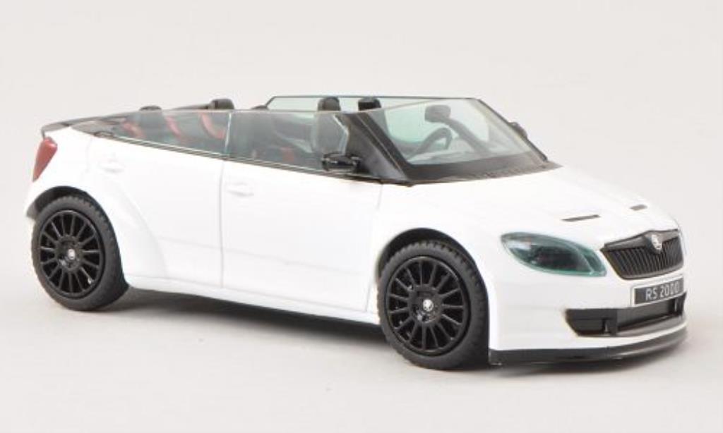 Skoda Fabia 1/43 Abrex 2000 Concept Car white mit blacken Felgen diecast