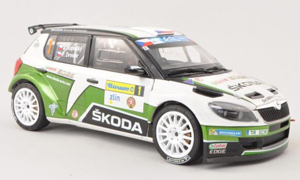 Skoda Fabia S2000 1/18 Abrex No.1 Castrol Barum Rally 2013 /Dresler miniature