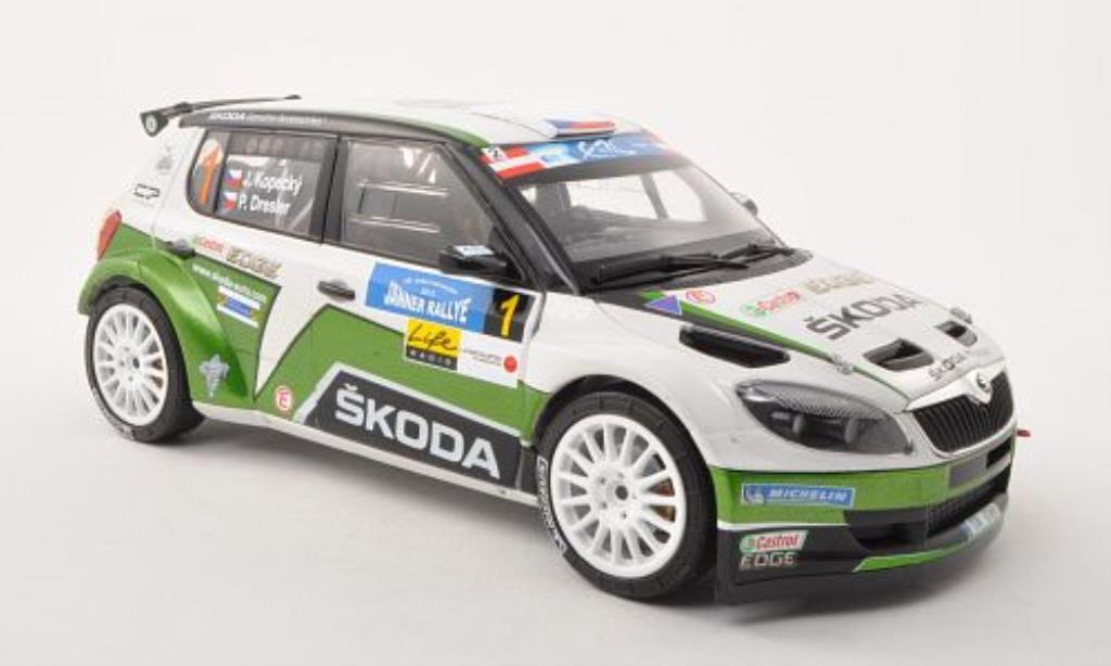 Skoda Fabia S2000 1/18 Abrex No.1 Janner Rally 2013 /P.Dresler miniature