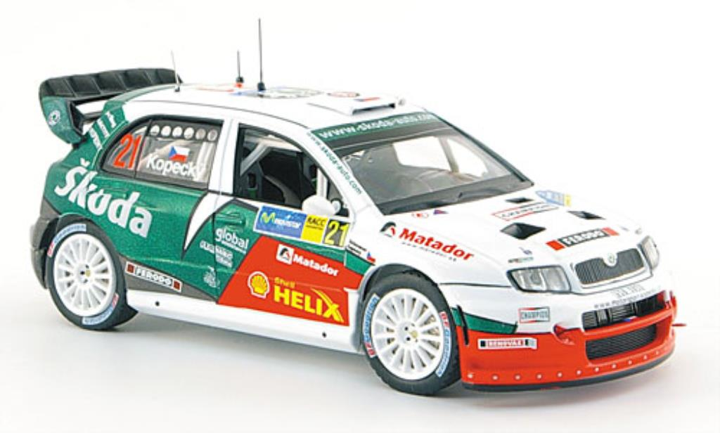 Skoda Fabia WRC 1/43 IXO No.21 Funfter Rallye Catalunya 2006 /Schovanek miniature