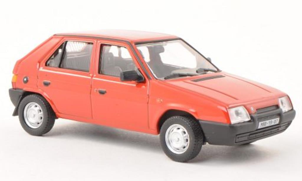 Skoda Favorit 1/43 Abrex 136 L rouge 1987 miniature