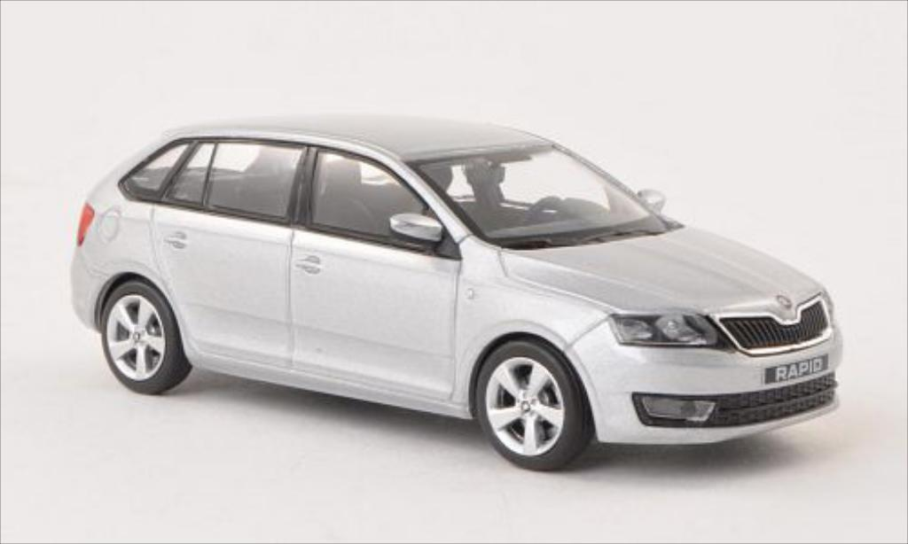 Skoda Rapid 1/43 Abrex Spaceback grise ACE 2013 miniature