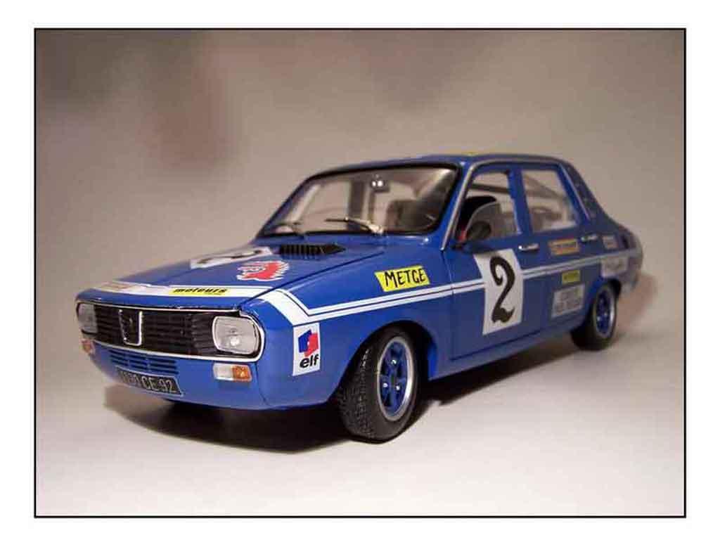 Renault 12 Gordini 1/18 Solido rallye preparee modellautos