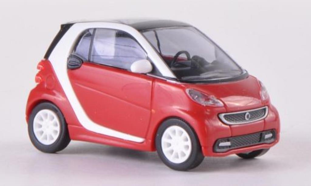 Smart ForTwo coupe 1/87 Busch Fortwo coupe rouge 2012 miniature