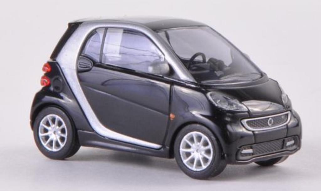 Smart ForTwo coupe 1/87 Busch Fortwo coupe noire 2012 miniature
