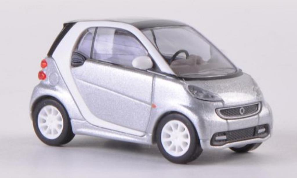 Smart ForTwo coupe 1/87 Busch Fortwo coupe grise 2012 miniature