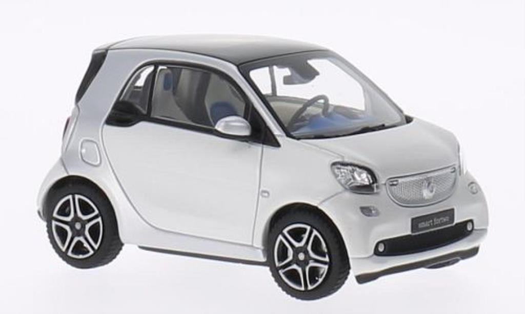 Smart Fortwo coupe 1/43 Norev grise/blanche 2014 miniature