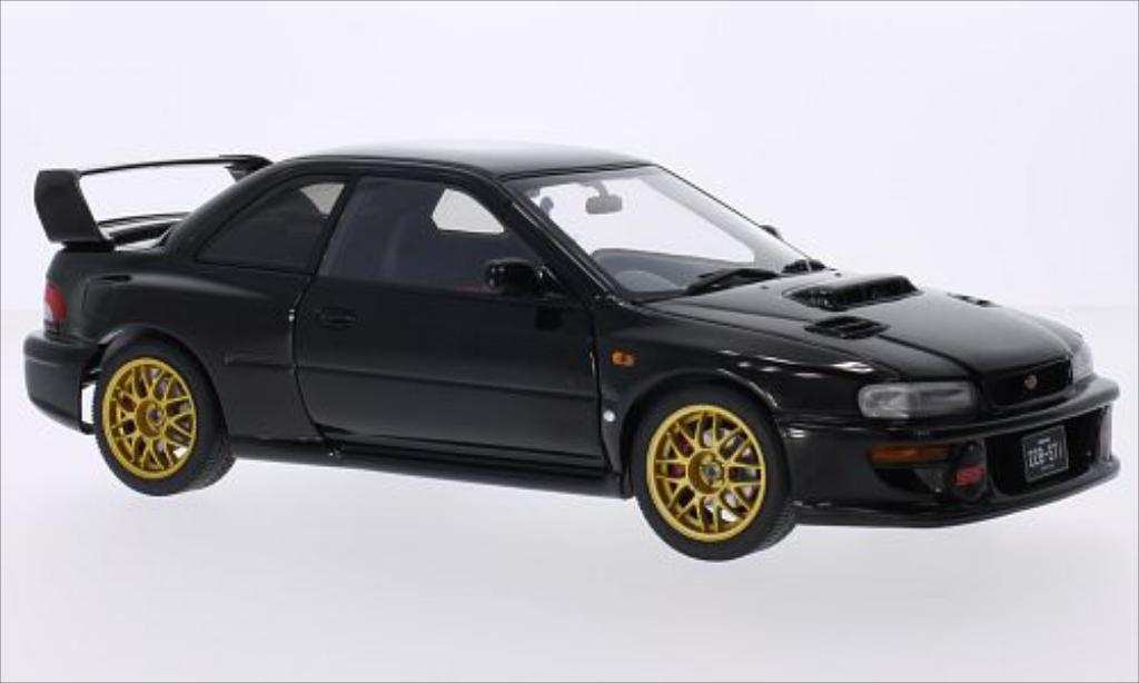 Subaru Impreza 22B 1/18 Autoart black 1998 diecast model cars