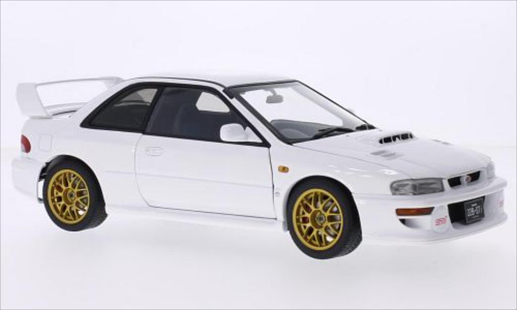 Subaru Impreza 22B 1/18 Autoart blanche 1998 miniature