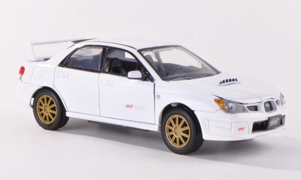 Subaru Impreza WRX 1/24 Motormax STi blanche miniature