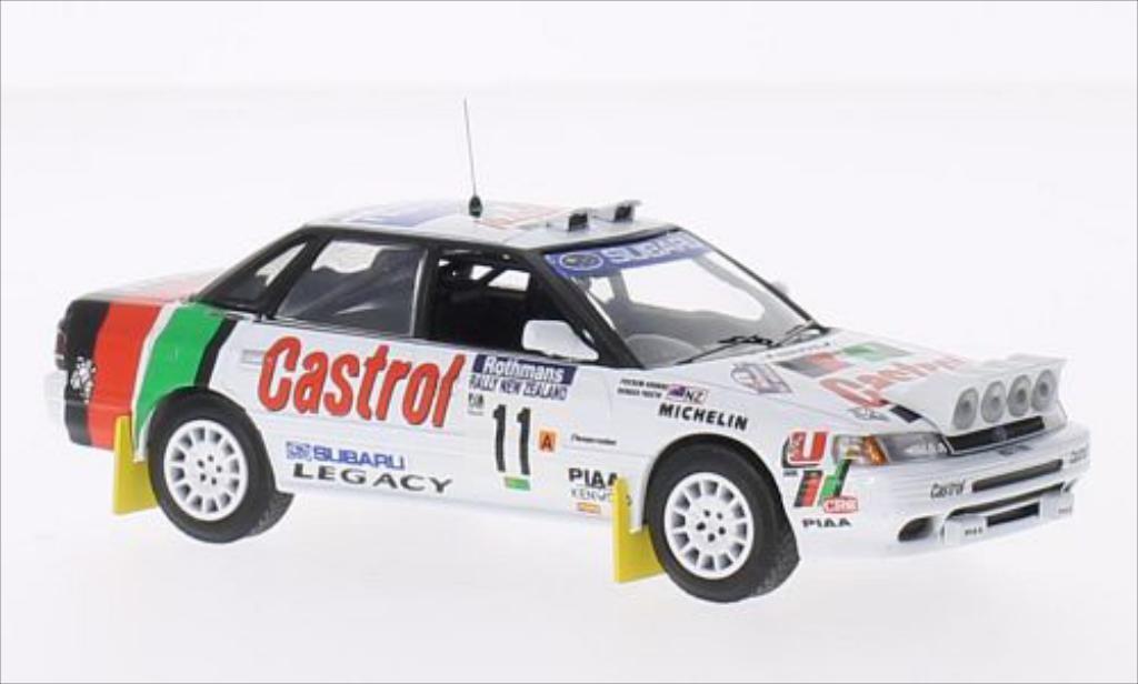 Subaru Legacy 1/43 IXO RHD No.11 Castrol Rallye WM Rallye Neuseeland 1990 /R.Freeth miniature