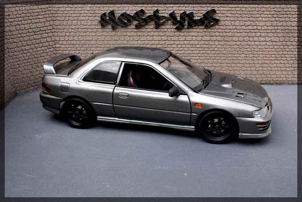 Subaru Impreza WRX Type R 1/18 Autoart gt turbo sti grau carbone modellautos