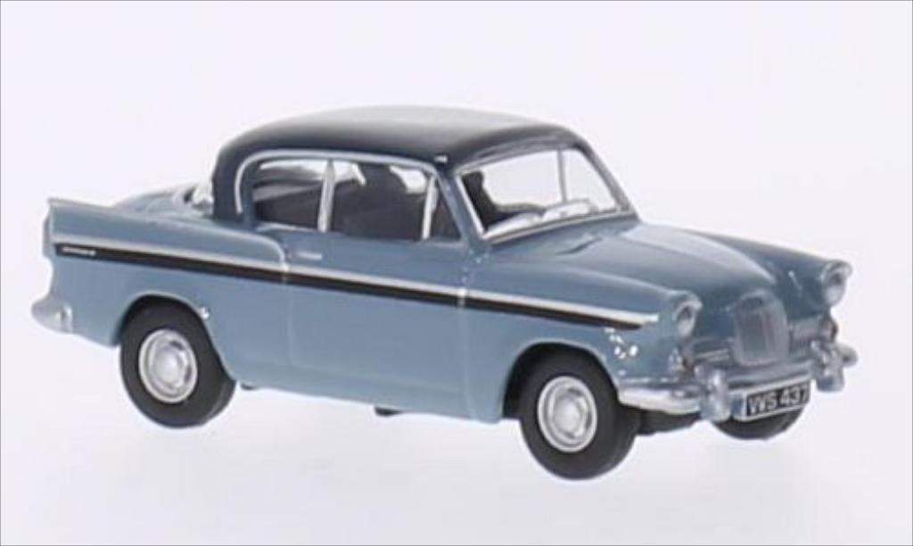 Sunbeam Rapier 1/76 Oxford MkIII bleu/bleu RHD miniature