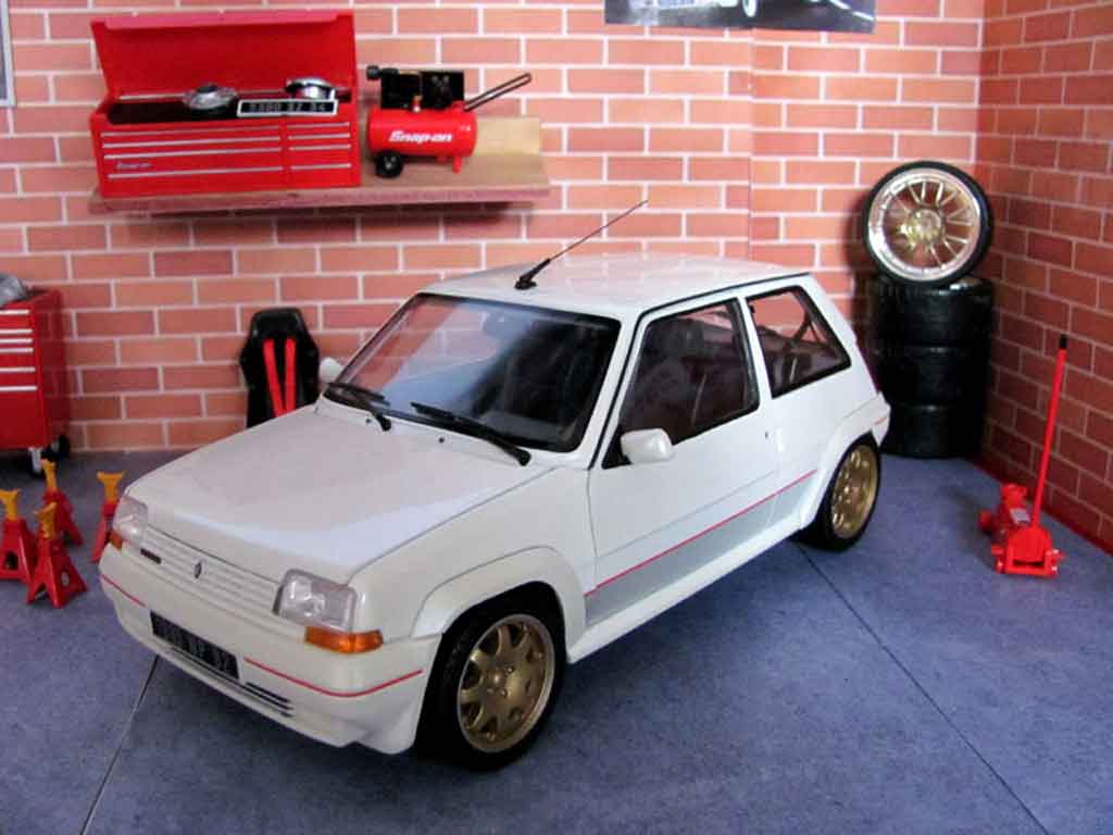 Renault 5 GT Turbo 1/18 Norev phase 1 blanche jantes clio williams miniature