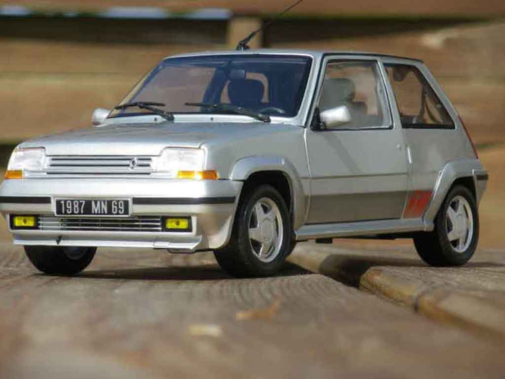 Renault 5 1/18 Norev GT Turbo phase 2 grise miniature