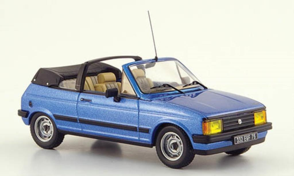 Talbot Samba 1/43 IXO Cabrio bleu 1983 miniature