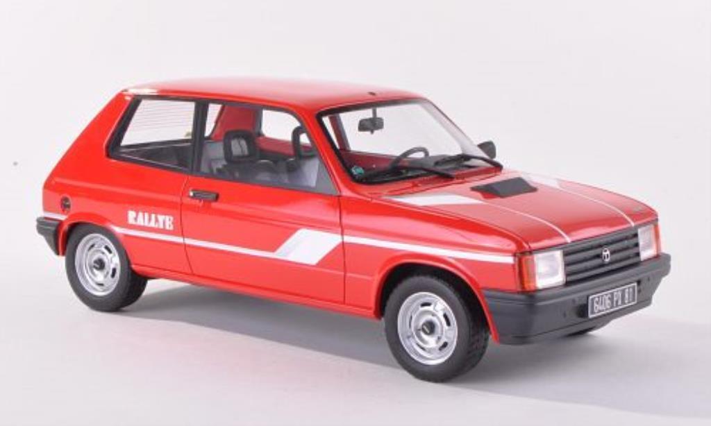 Talbot Samba 1/18 Ottomobile Rallye rouge miniature