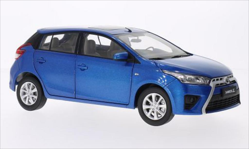 Toyota Yaris 1/18 Paudi bleu 2014 diecast model cars