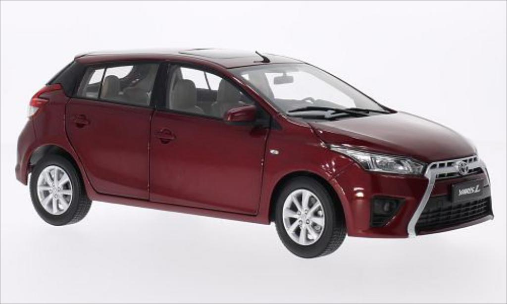 Toyota Yaris 1/18 Paudi metallise red 2014 diecast model cars