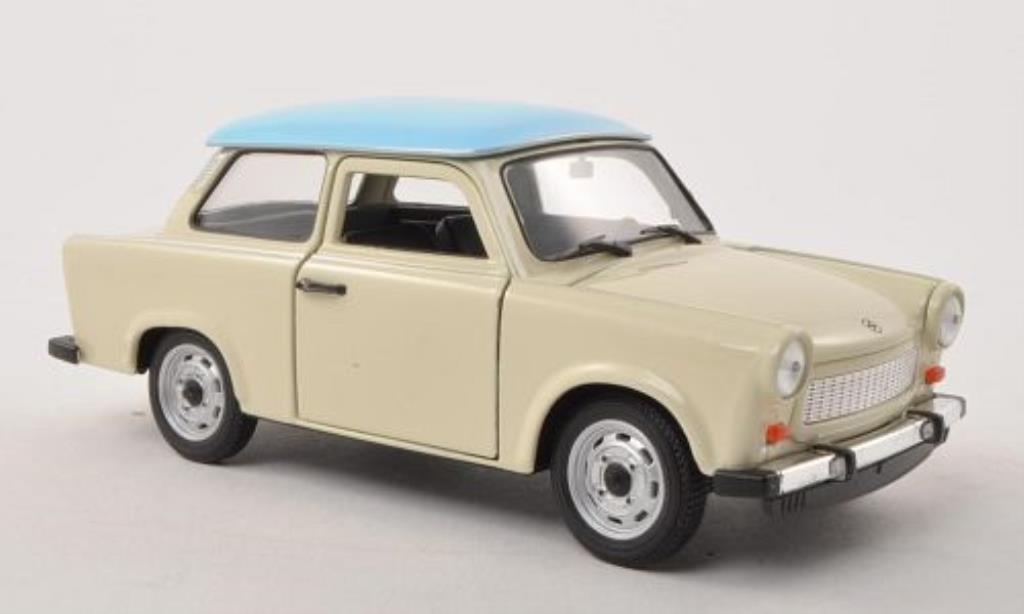 Trabant 601 1/24 Welly beige/bleu miniature