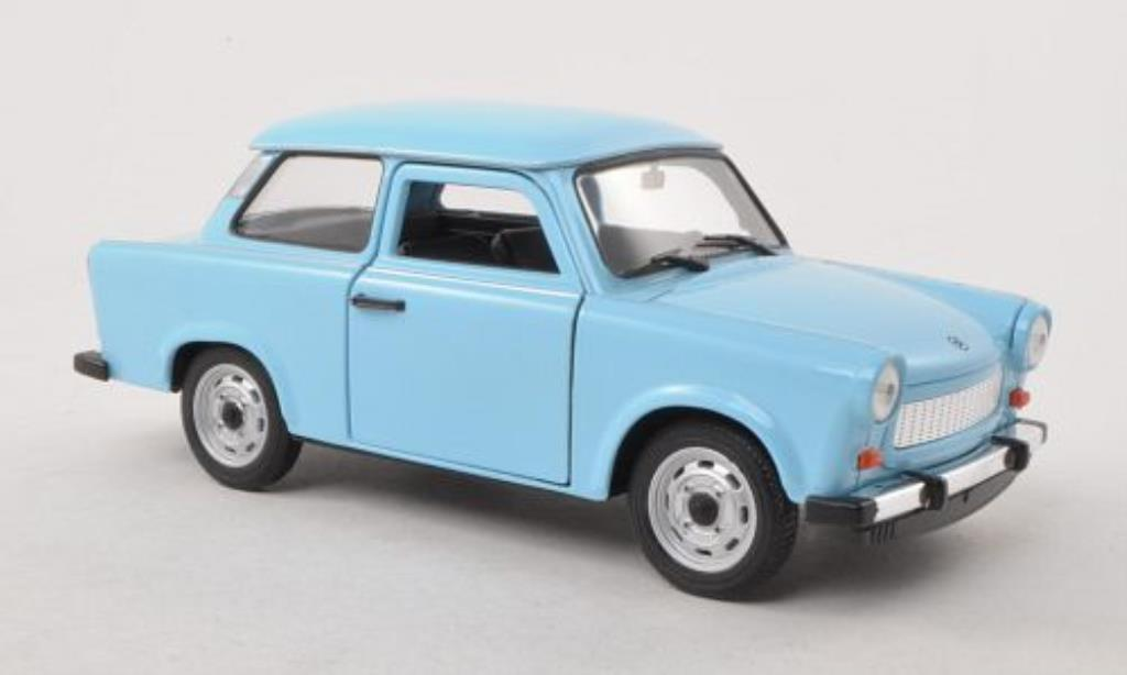 Trabant 601 1/24 Welly bleu miniature