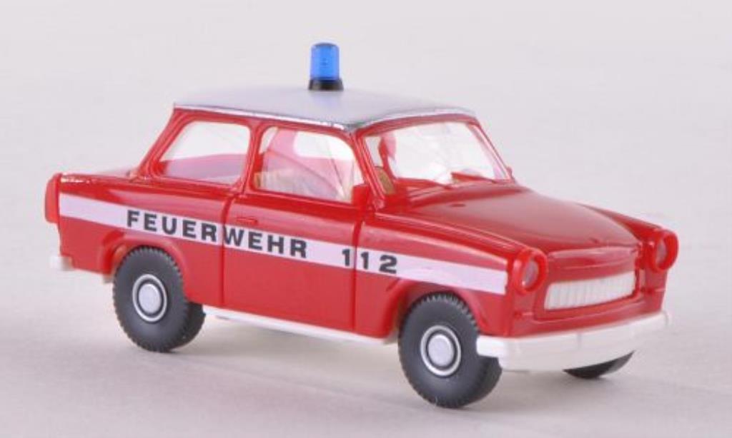 Trabant 601 1/87 Wiking S Feuerwehr diecast