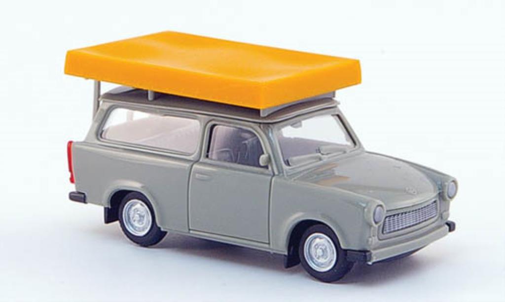 Trabant 601 1/87 Herpa Universal gray mit Dachzelt im Fahrzustand diecast