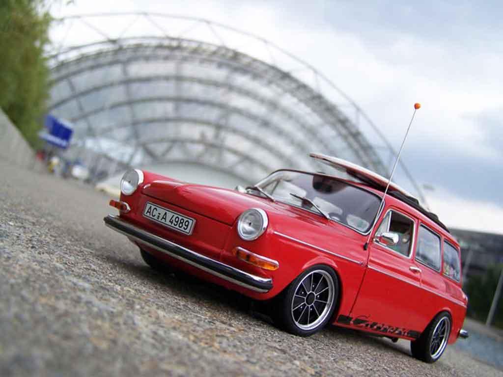 Volkswagen 1600 1/18 Sun Star tl old school red avec brm jantes diecast