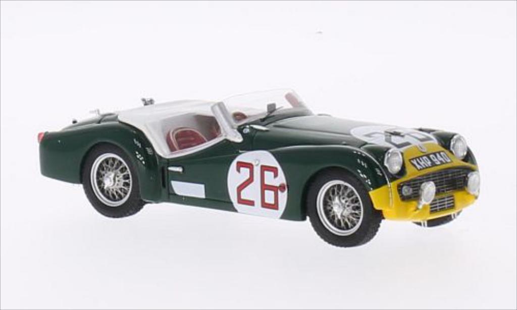 Triumph TR3 S 1/43 Spark RHD No.26 24h Le Mans 1959 /M.rougehschild miniature