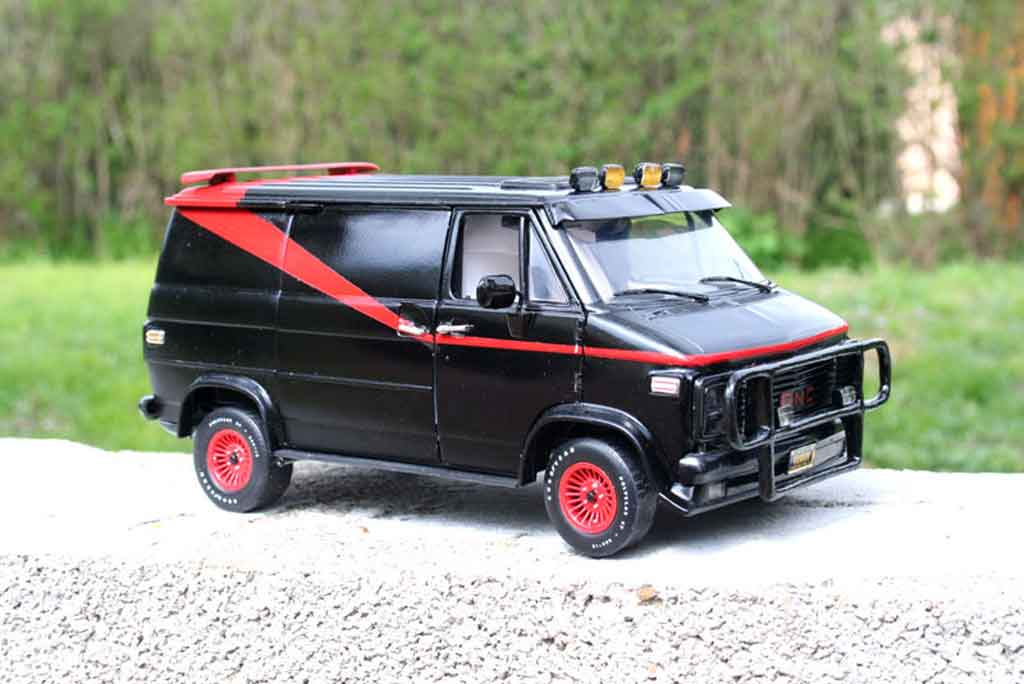 Chevrolet Van 1/18 Highway 61 agence tous risques - the a-team miniature