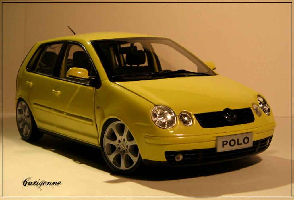 Volkswagen Polo 1/18 Anson jantes mercedes diecast