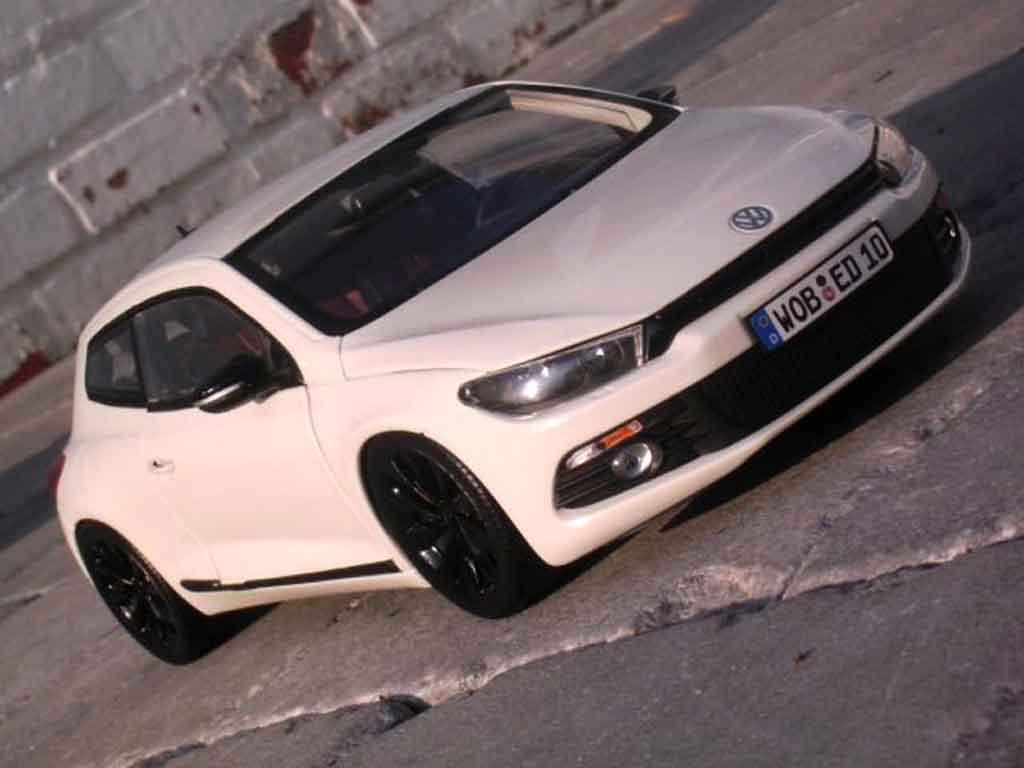 Volkswagen Scirocco 1/18 Norev 3 2.0 tsi blanche miniature