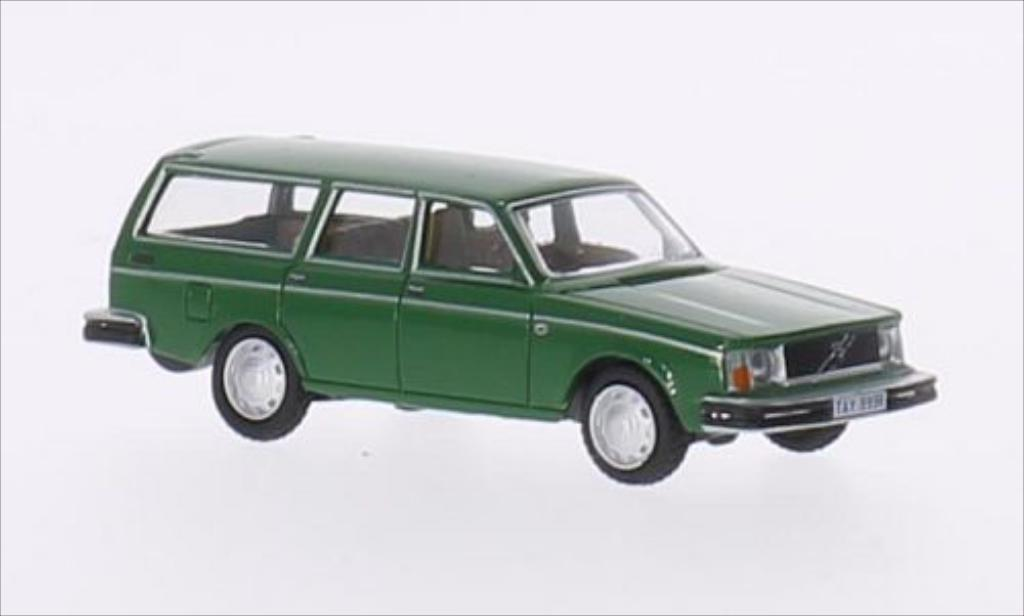 Volvo 245 1/76 Oxford DL Estate verte RHD miniature