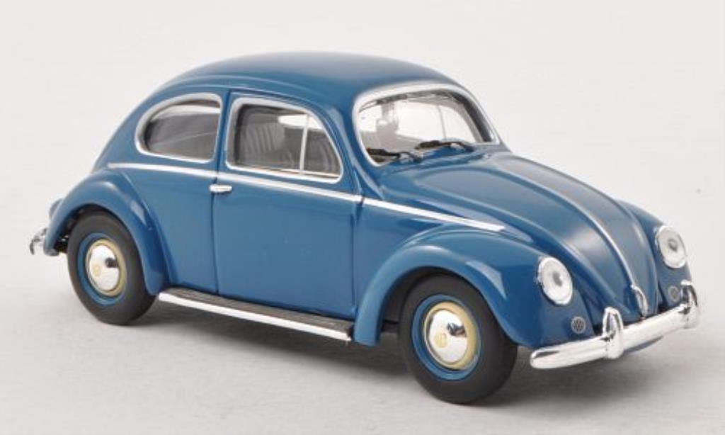 Volkswagen 1200 1/43 Minichamps Kafer bleu 1953 diecast