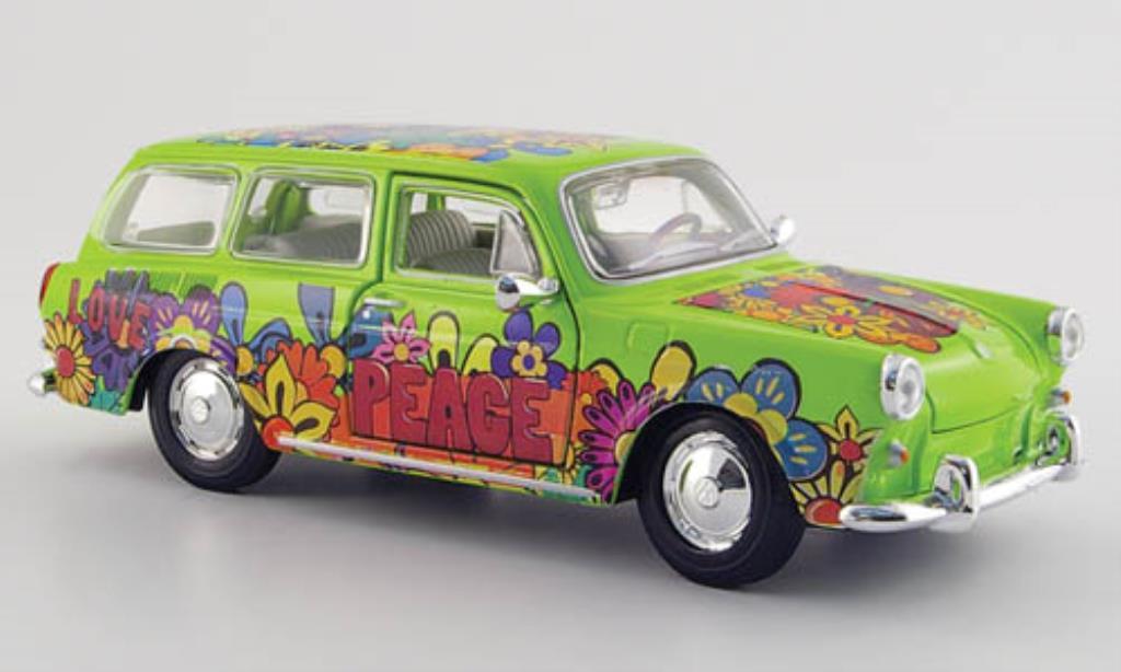 Volkswagen 1600 1/24 Maisto Variant grun mit Dekor miniature