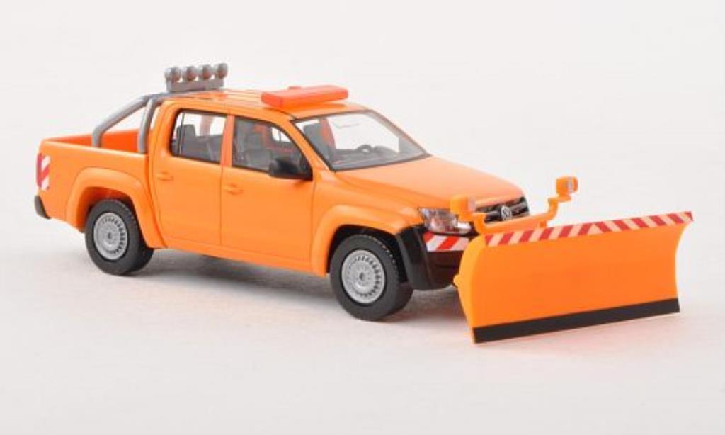 Volkswagen Amarok 1/87 Wiking Winterdienst mit Raumschild miniature