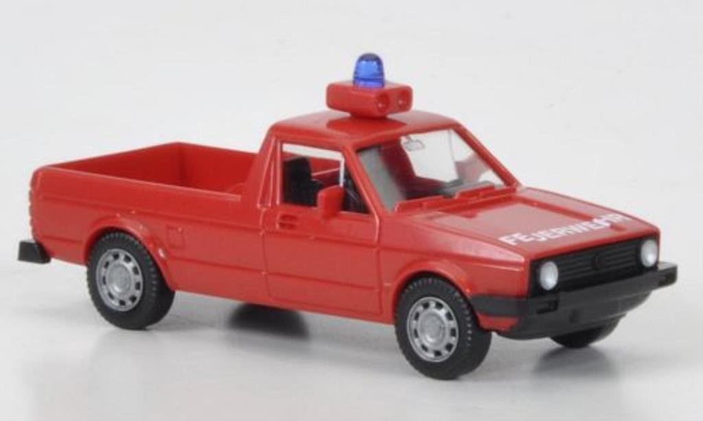 Volkswagen Caddy 1/87 Wiking I Feuerwehr mit Tragkraftspritze miniatura