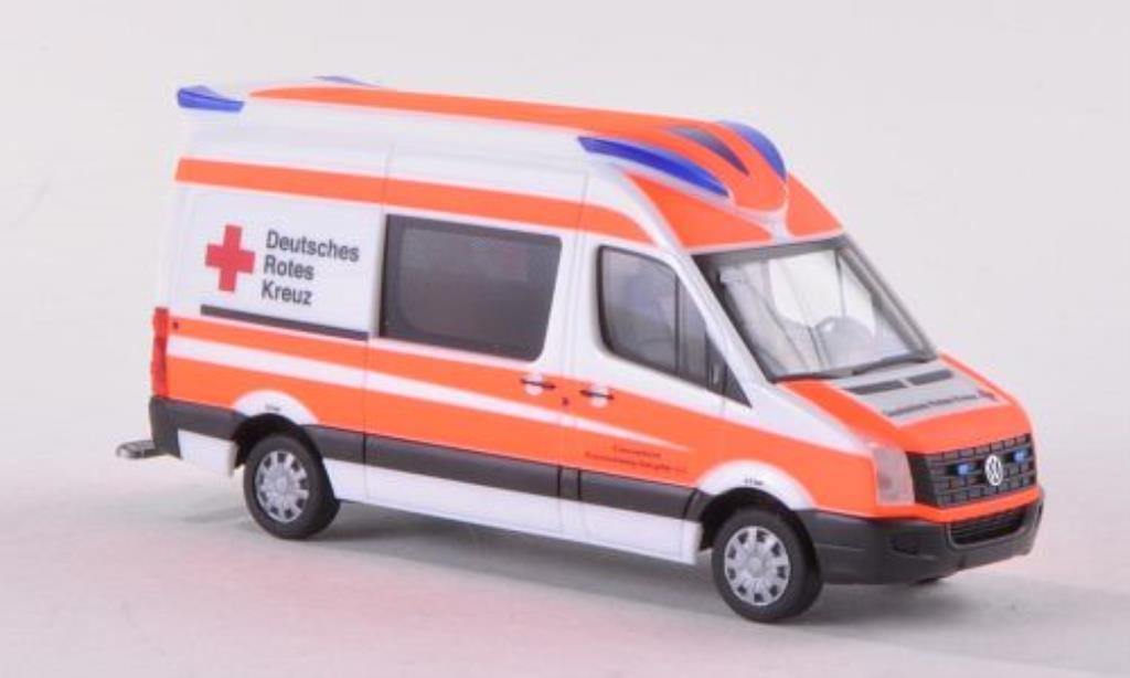Volkswagen Crafter 1/87 Herpa Delfis RTW DRK Braunschweig-Salzgitter 2011 diecast