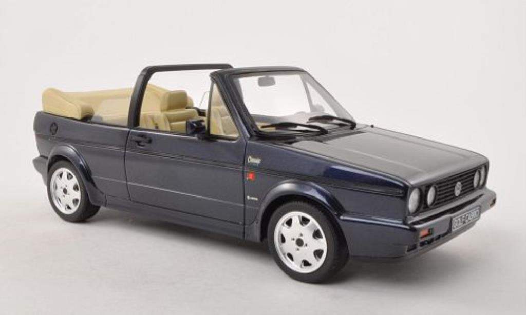Volkswagen Golf I 1/18 Ottomobile Cabriolet Classic Line bleu 1991 miniature