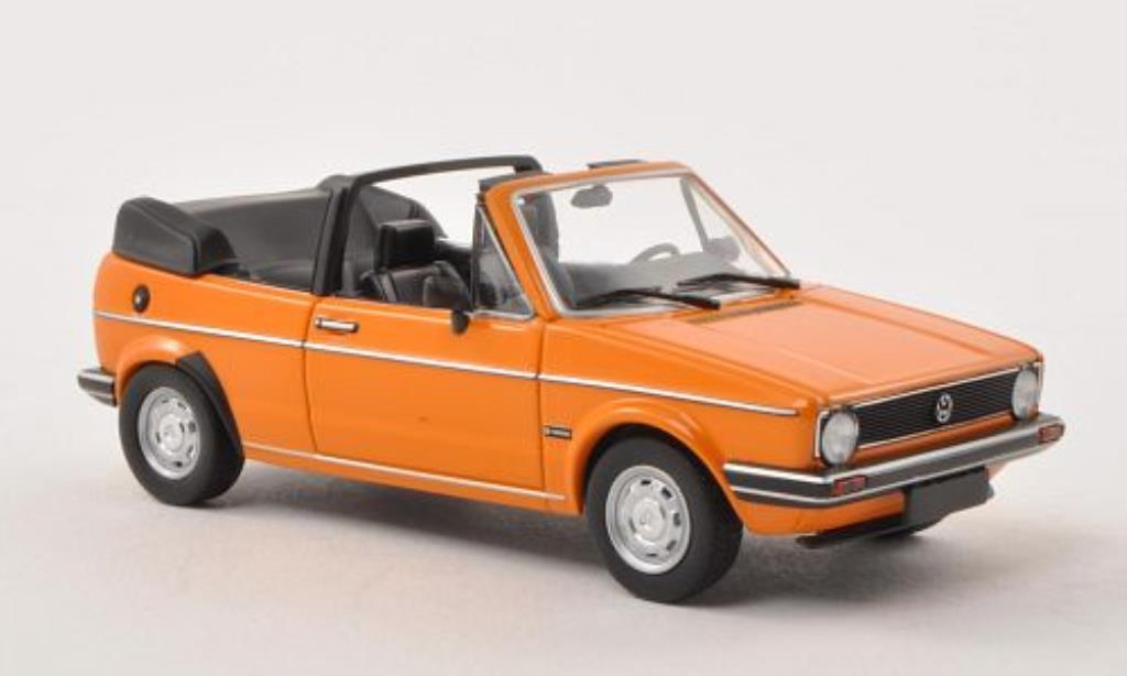 Volkswagen Golf I 1/43 Minichamps Cabriolet GL orange 1980 miniature