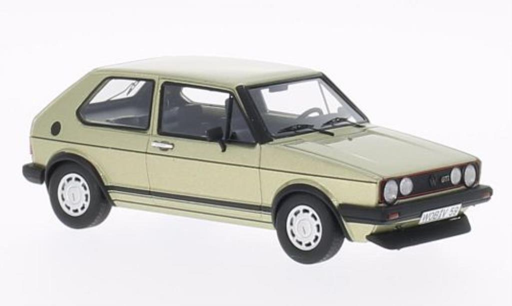 Volkswagen Golf I 1/43 Neo GTI gold-yellow 1983 diecast