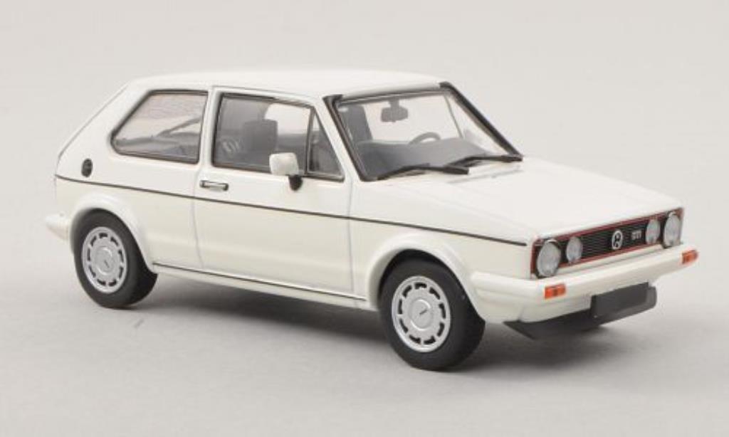 Volkswagen Golf I 1/43 Minichamps GT Pirelli blanche 1983