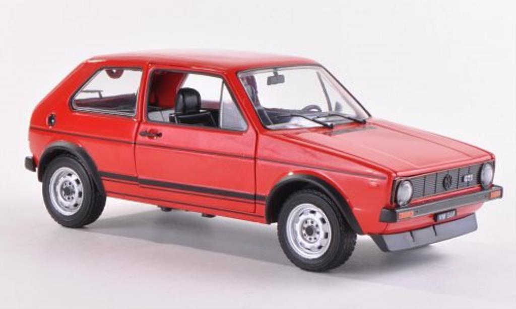 Volkswagen Golf I 1/24 WhiteBox GTI rouge 1978 miniature