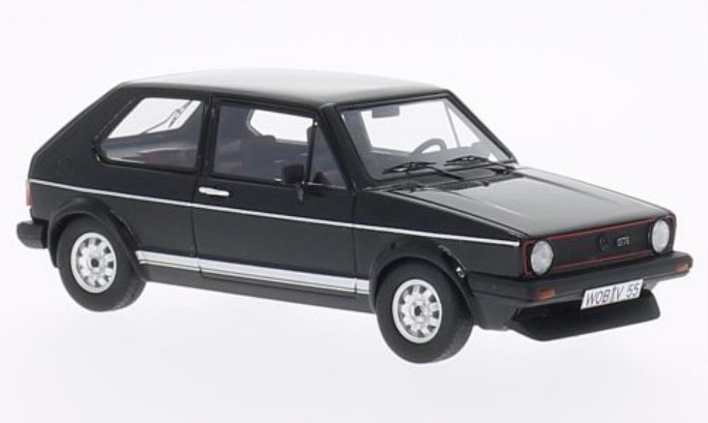 Volkswagen Golf I 1/43 Neo GT noire 1981 miniature