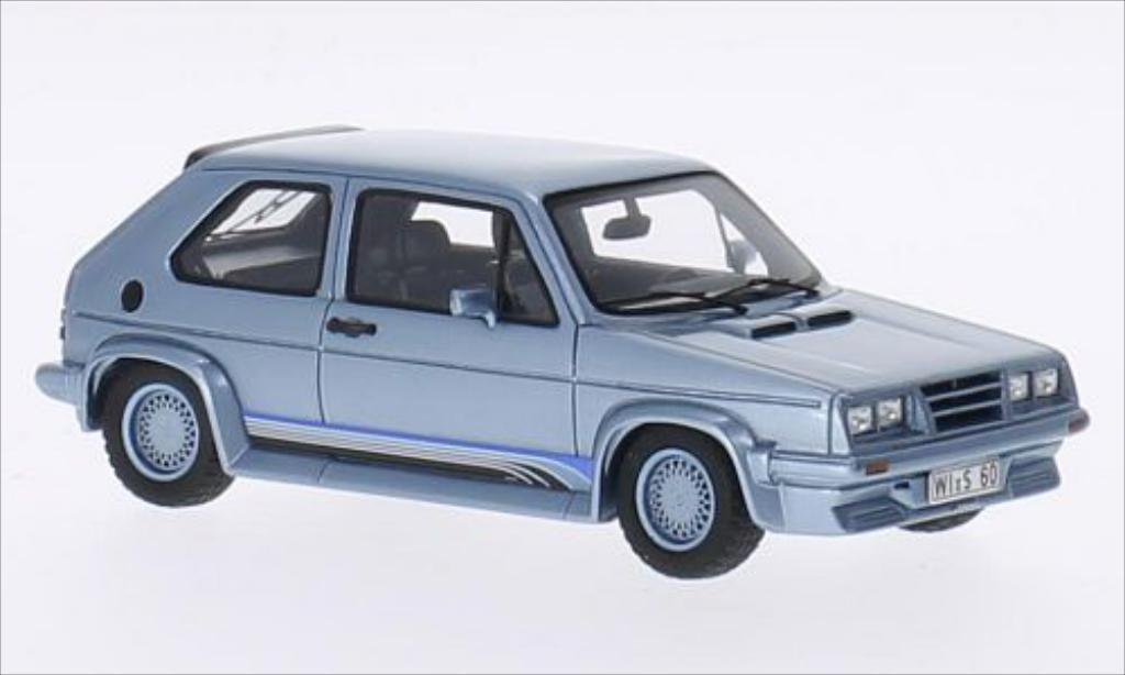 Volkswagen Golf I 1/43 Spark Kamei X1 bleu miniature