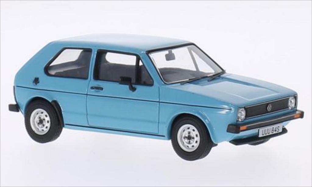 Volkswagen Golf I 1/43 Vanguards LS bleu RHD 1974 miniatura