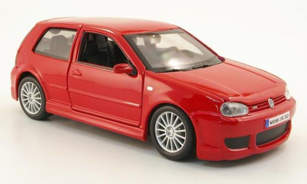 Volkswagen Golf IV R32 1/24 Maisto red 2006 diecast model cars